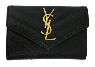 Saint Laurent black monogram wallet