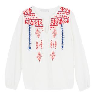 Christophe Sauvat White Embroidered Blouse