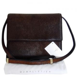 M2Malletier brown pony hair bag