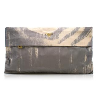Prada Nylon Abstract Clutch