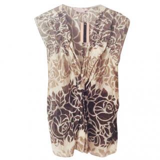 Max Azria sleeveless printed top