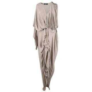 Lanvin Ruched Grey Dress