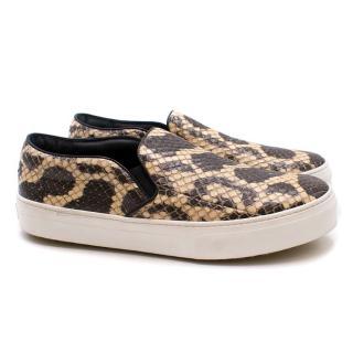 Celine Python Slip-On Sneakers