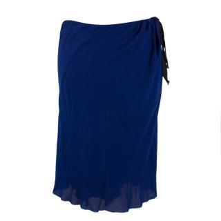 Ann Demeulemeester Asymmetric Navy Skirt