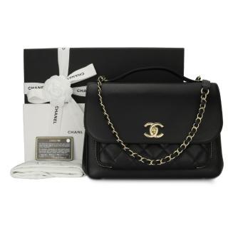 Chanel Large Black Business Affinity Top Handle Bag