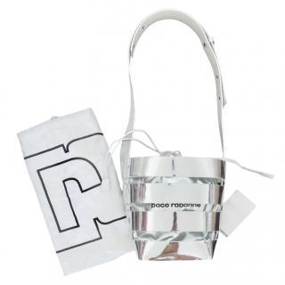 Paco Rabanne silver mirror cage bag