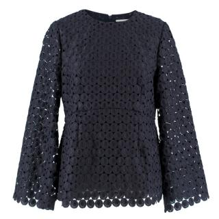 Zimmermann Navy Lace Blouse