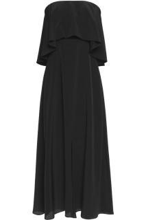 Zimmermann Strapless Ruffled Silk Midi Dress