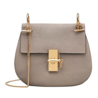 Chloe Small Motty Grey Drew Shoulder Bag