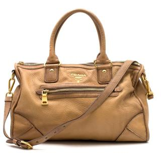 Prada Large Tan Shoulder Bag