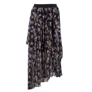 Zimmermann Silk Asymmetric Floral Skirt