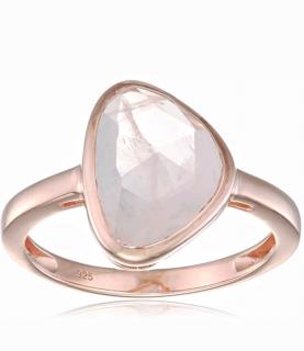 Elements Rose Gold Dusty Pink Quartz Ring