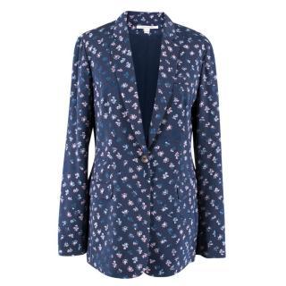 Diane von Furstenberg Floral Silk Blazer