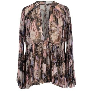 Zimmermann Floral Silk Blouse