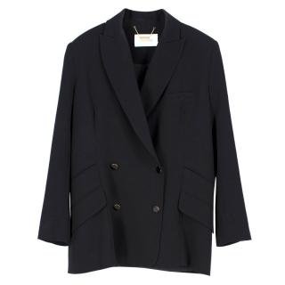 Zimmermann Double Breasted Black Blazer