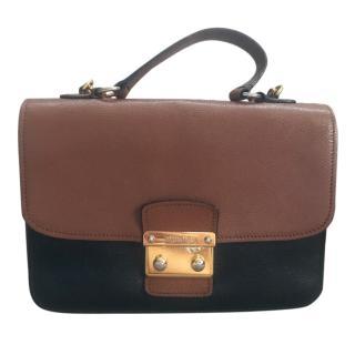 Mui Mui Madras Bicolour Handbag