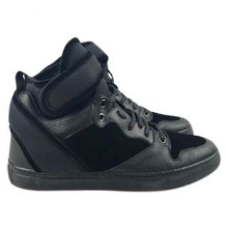 Balenciaga Black Velvet High Tops