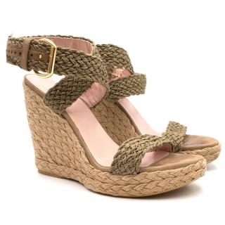 Stuart Weitzman 'Alex' Woven Wedge Sandals