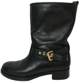 Louis Vuitton Black Biker Boots