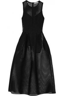 Maje 'Rire' Striped Mesh Dress