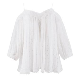 Zimmermann Realm Scallop Silk Top