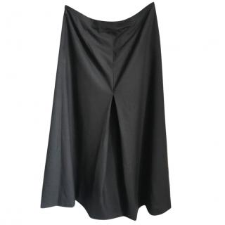 Prada Pleated Wool Midi Skirt