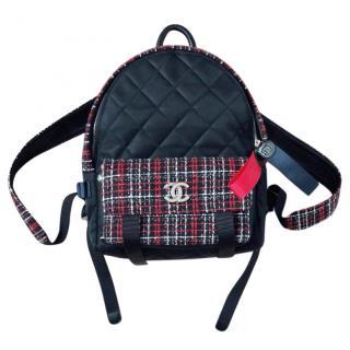 Chanel tweed nylon backpack