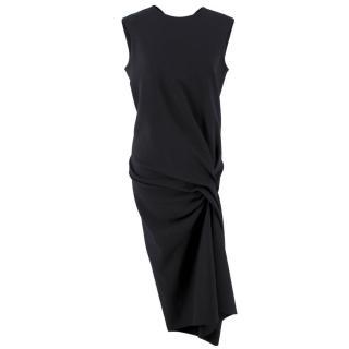 Lanvin Twist Midi-Length Wool Dress