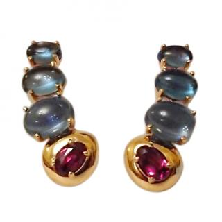 Brumani Corcovado Cabouchon 18ct Gold Ear Climbers