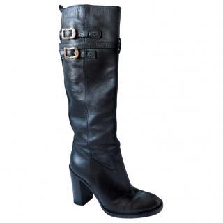 Gucci Black High Heel Boots