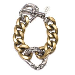 Lanvin Mixed Metals Crystal Bracelet