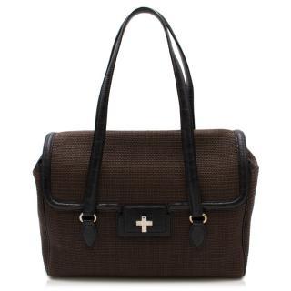Alaia Raffia Lizard Bag