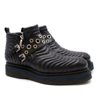 Cesare Paciotti Quilted Ankle Boots