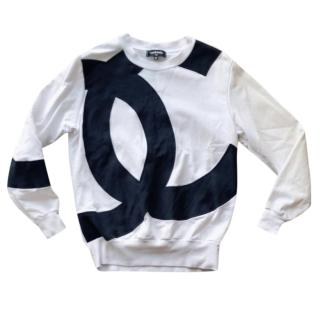 Chanel logo white sweatshirt