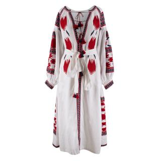 Vita Kin White Embroidered Linen Dress