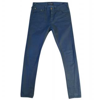 Scotch & Soda Phaidon Slim Tapered Commando blue jeans.