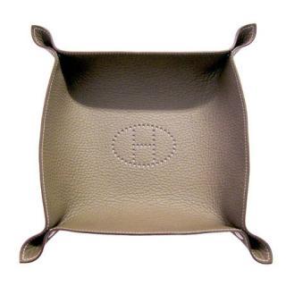 Hermes Etoupe Leather Change Tray