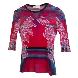 Peter pilotto Sheer Floral Top