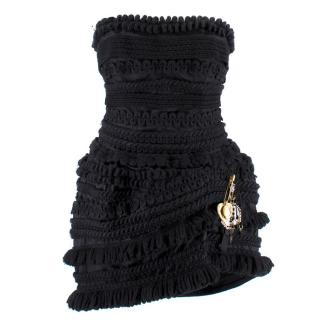 Dolce & Gabbana Wool-Blend Bandeau Mini Dress