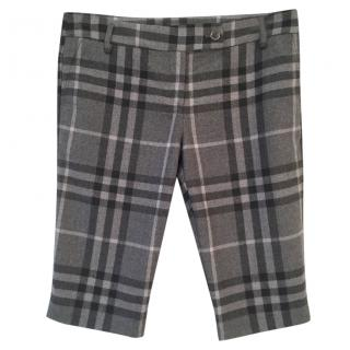 Burberry wool check tailored shorts