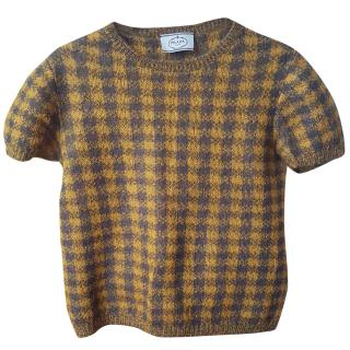 Prada wool check jumper