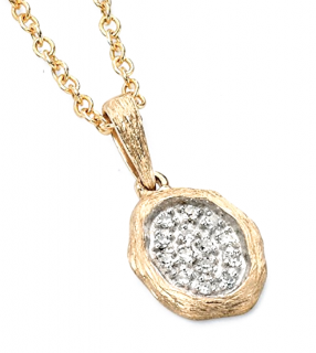Elements Gold Diamonds Dew Drop Necklace