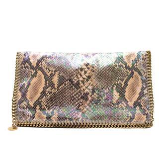 Stella McCartney Python Effect Falabella Clutch Bag