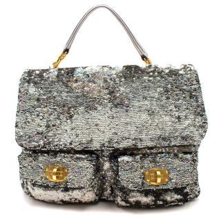 Miu Miu Sequin Satchel Bag