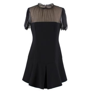 Miu Miu Black Sheer Bust Mini Dress