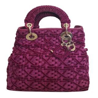 Dior Woven Silk Lady Dior Bag