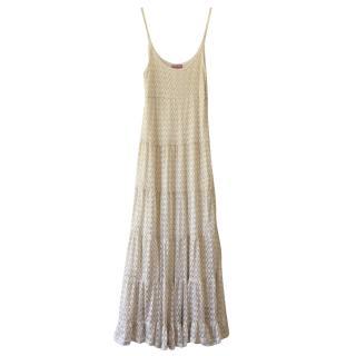 Miss June Fine Crochet Long Dress