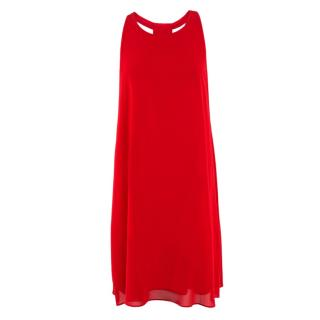 Alice + Olivia Red Silk Dress
