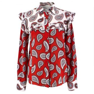 Dodo Bar Or Red Paisley Print shirt