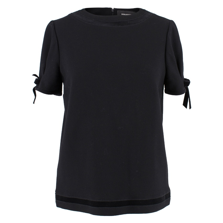 Dsquared2 Black Wool Top